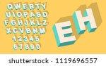 vector of vintage type alphabet ...   Shutterstock .eps vector #1119696557
