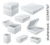 white boxes isolated on white.... | Shutterstock .eps vector #111969767