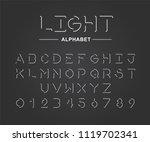 linear uppercase  sans serif... | Shutterstock .eps vector #1119702341