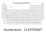 periodic table of elements.... | Shutterstock .eps vector #1119703037