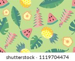 set of cute summer icons  food  ... | Shutterstock . vector #1119704474
