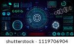 futuristic concept hud  gui... | Shutterstock .eps vector #1119706904