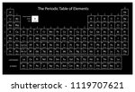 periodic table of elements.... | Shutterstock .eps vector #1119707621