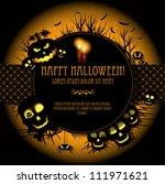 halloween vector card  or... | Shutterstock .eps vector #111971621