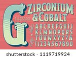 an ornate alphabet in a circus... | Shutterstock .eps vector #1119719924