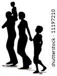 family of four profile | Shutterstock .eps vector #11197210