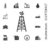 Oil Derrick Icon. Simple...