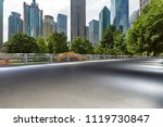 empty road with modern business ... | Shutterstock . vector #1119730847