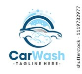 car wash and clean logo vector | Shutterstock .eps vector #1119732977
