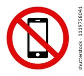 'please silence your mobile... | Shutterstock .eps vector #1119738041