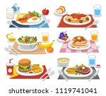 sample food at each meal. meals ... | Shutterstock .eps vector #1119741041