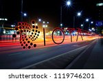 concept of iota coin moving... | Shutterstock . vector #1119746201