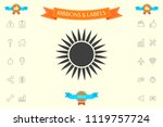 sun icon symbol | Shutterstock .eps vector #1119757724