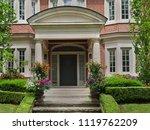 front door of house with large... | Shutterstock . vector #1119762209