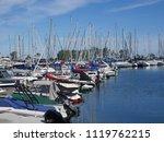 marina with sailboats and motor ... | Shutterstock . vector #1119762215