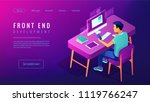 isometric front end development ... | Shutterstock .eps vector #1119766247