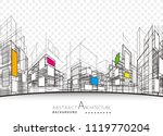 architecture building... | Shutterstock .eps vector #1119770204