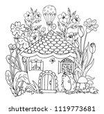 vector illustration zentangl.... | Shutterstock .eps vector #1119773681