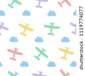 airplanes and clouds vector... | Shutterstock .eps vector #1119774077