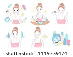 woman with beauty concept on... | Shutterstock .eps vector #1119776474