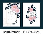 collection of peony flower  ... | Shutterstock .eps vector #1119780824