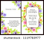 romantic invitation. wedding ... | Shutterstock .eps vector #1119783977