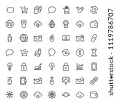 seo marketing flat icon set.... | Shutterstock .eps vector #1119786707
