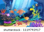 beautiful coral reefs and fish... | Shutterstock .eps vector #1119792917