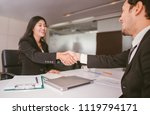 business people partnership... | Shutterstock . vector #1119794171
