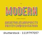 vector modern font 3d... | Shutterstock .eps vector #1119797057