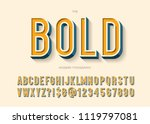 bold font colorful 3d style.... | Shutterstock .eps vector #1119797081