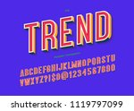 font trend colorful 3d... | Shutterstock .eps vector #1119797099