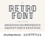 retro typeface modern... | Shutterstock .eps vector #1119797111