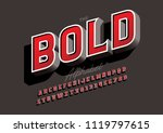 vector of modern bold font and... | Shutterstock .eps vector #1119797615
