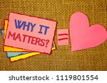 writing note showing  why it... | Shutterstock . vector #1119801554
