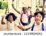 happy kids at elementary school | Shutterstock . vector #1119804041