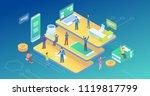 ultra hd resolution technology...   Shutterstock .eps vector #1119817799