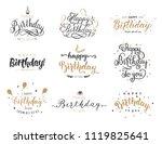 happy birthday elegant brush... | Shutterstock .eps vector #1119825641