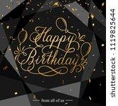 black birthday congratulations... | Shutterstock .eps vector #1119825644