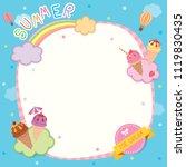 illustration vector of summer...   Shutterstock .eps vector #1119830435