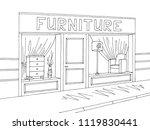 furniture store shop exterior... | Shutterstock .eps vector #1119830441