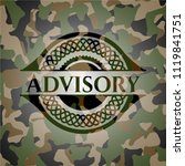 advisory on camo texture | Shutterstock .eps vector #1119841751