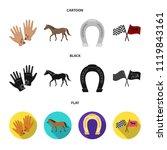hippodrome and horse set... | Shutterstock . vector #1119843161