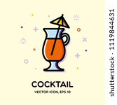 outline cocktail icon for... | Shutterstock .eps vector #1119844631