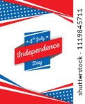 illustration vector of 4 july...   Shutterstock .eps vector #1119845711