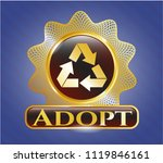 gold emblem or badge with... | Shutterstock .eps vector #1119846161