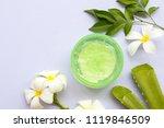 natural herbal soothing gel... | Shutterstock . vector #1119846509