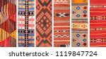 set of banners with textures of ... | Shutterstock . vector #1119847724