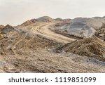 bumpy scenery including lots of ... | Shutterstock . vector #1119851099