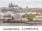 panoramic view of prague  the... | Shutterstock . vector #1119851411